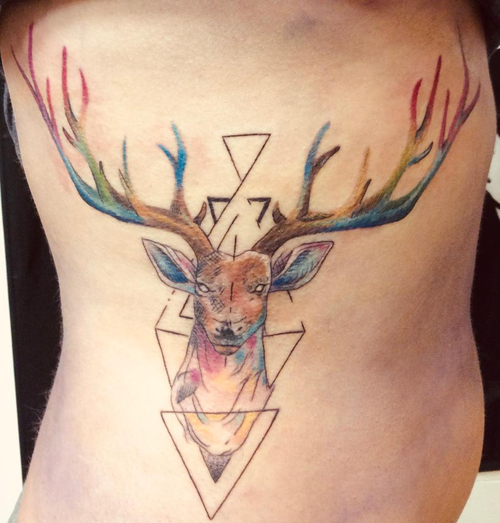 Tattoo am Oberkörper Abstrakt - Tattoo by Daniel Pavlik